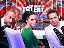 Jaro Sl�vik, Lucie B�l� a Martin Dejdar v show �esko Slovensko m� talent