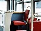 Jedna z prvních sérií tramvají typu T3 byla vybavena koženkovými sedadly. Od