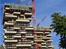 Obytné domy jsou ve výstavbě. V budoucnosti budou vysoké 110 a 76 metrů.