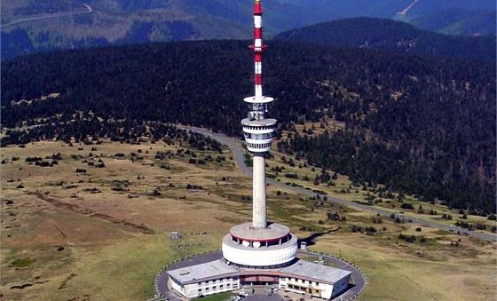 Budova vysílače na vrcholu hory Praděd.