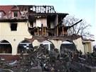 Dům pravicových extremistů v Cvikově, který vypálila Beate Zschäpe.