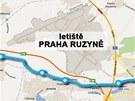 Rychlodráha mezi pražským Veleslavínem a Kladnem