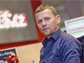 Poslanec Michal Doktor, kter� ozn�mil odchod z ODS, p�i on-line rozhovoru pro...