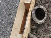 Stavební firmy použila na podloží dálnice D1 na Ostravsku i rouru a další