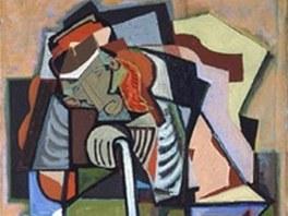 Jeden z obrazů Emila Filly ukradených z expozice na zámku v Peruci u Loun