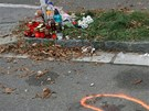 M�sto tragick� nehody v Habrmanov� ulici v Hradci Kr�lov�