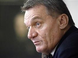 Pražský primátor Bohuslav Svoboda (ODS) na tiskové konferenci k rozpadu koalice