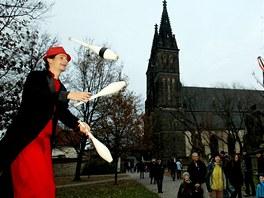 Krypta je otevřená v rámci festivalu Vyšehradský advent. (26. listopadu 2011)