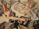 EMIL FILLA - Orfeova smrt (1937). Olej, tempera, pastel. Památník Terezín.