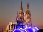 Kolín nad Rýnem - panorama s katedrálou