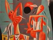 FRANTIŠEK HUDEČEK - Zatmění slunce (1932). Olej, plátno. Galerie výtvarného