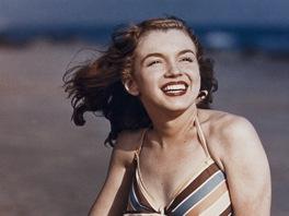 Jedna z vydražených fotografií herečky Marilyn Monroe, kterou v roce 1946