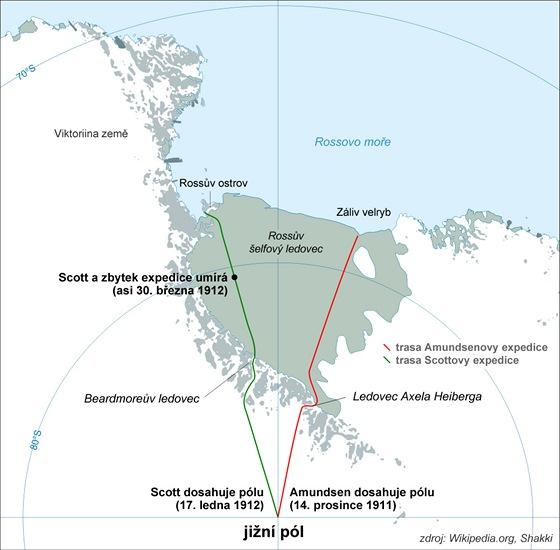 Amundsen a Scott na jižním pólu