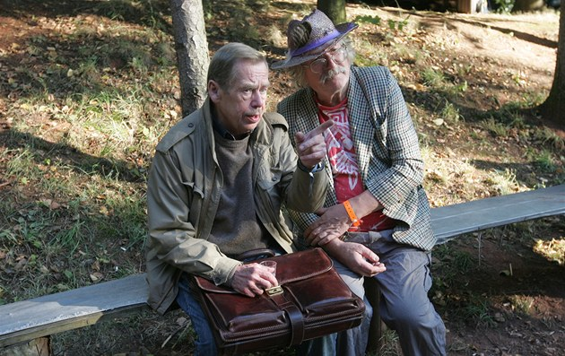 Václav Havel na trutnovském festivalu s Ivanem Martinem