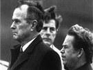 Bývalý americký prezident George Bush starší s Václavem Havlem na pražském...