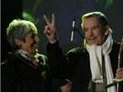 Joan Baezov� a V�clav Havel (17. listopadu 2009)