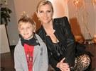 Leona Machálková se synem Arturem (2011)