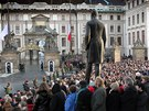 Poslední rozloučení s prezidentem Václavem Havlem na Pražském hradě (21.