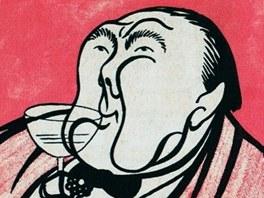 Vítězslav Nezval (karikatura Adolfa Hoffmeistera)