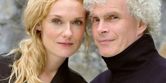 Mezzosopranistka Magdalena Kožená s manželem Simonem Rattlem