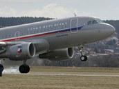 V březnu 2009 přistál na českobudějovickém letišti vládní speciál Airbus A 319.