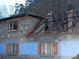 Požár domu v Bohuňově na Svitavsku