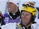 ZASLOU�EN� �SM�V. Ivica Kosteli�, chorvatsk� v�t�z slalomu ve Wengenu (vpravo),