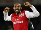 A JE TAM. Thierry Henry se raduje ze vstřeleného gólu.