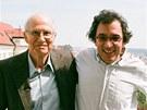 Nicholas Winton (vlevo) a Matej Mináč