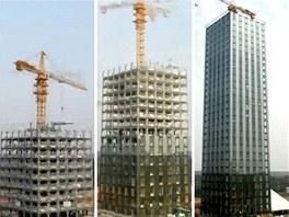 Třicetipatrový hotel v čínském městě Čchang-ša.