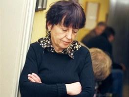 Vdova po zesnul�m motocyklistovi Olga Rotreklov� u soudu