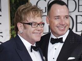 Elton John s přítelem Davidem Furnishem