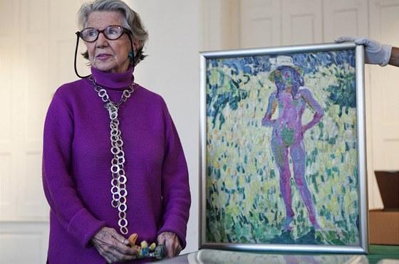 """""""Tím obrazem Kupka začal s abstrakcí,"""" vysvětlovala Mládková malířův tvůrčí..."""