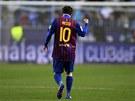 MALÝ TITÁN. Lionel Messi pomohl Barceloně k vítězství už čtvrtým hattrickem v