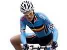 Belgičan Niels Albert na trati závodu mistrovství světa v Koksijde.