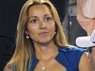 PŘÍTELKYNĚ. Jelena Rističová, partnerka Novaka Djokoviče, sleduje pozorně