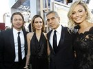 Brad Pitt, Angelina Jolie, George Clooney a Stacy Keiblerov