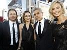 Brad Pitt, Angelina Jolie, George Clooney a Stacy Keiblerová