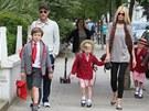 Claudia Schifferová, její manžel Matthew Vaughn a děti Caspar a Clementine