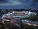 Vizualizace rekonstruované podoby Bazalů, fotbalového stadionu Baníku Ostrava.