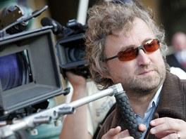 Jan Hřebejk při natáčení Kawasakiho růže (Praha, 21. července 2009)