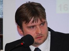 Nový starosta Novéhon Jičína Jaroslav Dvořák chvíli po zvolení. (6. února 2012)