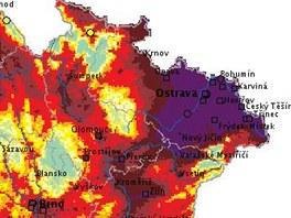 Tristní pondělní smogová situace v České republice, zvláště pak na Ostravsku a