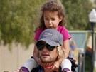 Gabriel Aubry s dcerou Nahlou. S její matkou, herečkou Halle Berry už nežije,
