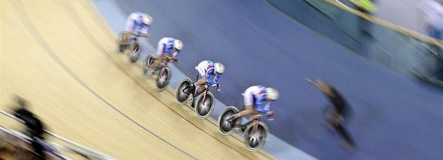 SP dráhových cyklist� na novém olympijském velodromu v Londýn�