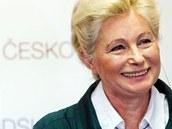 Europoslankyn� Zuzana Roithov� (KDU-�SL) p�i tiskov� konferenci ke kandidatu�e