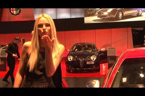 České modelky na autosalonu v Ženevě 2012
