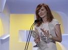 Český lev 2012 - Anna Geislerová s cenou za Nevinnost Praha, 3. března 2012)