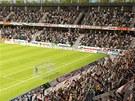 Takto by měla vypadat hlavní část fotbalové arény v Hradci Králové.