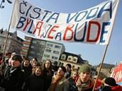 Protest proti t�b� b�idlicov�ho plynu na N�chodsku a Trutnovsku. (N�chod, 6.